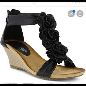 Patrizia Spring Step Harlequin Flower Wedge Sandal